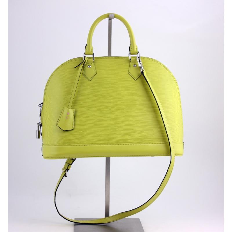 Louis Vuitton alma Mm Bag In Pistachio Epi Leather oYCd68jze2