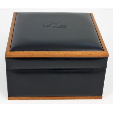 Caja Breguet en madera y piel