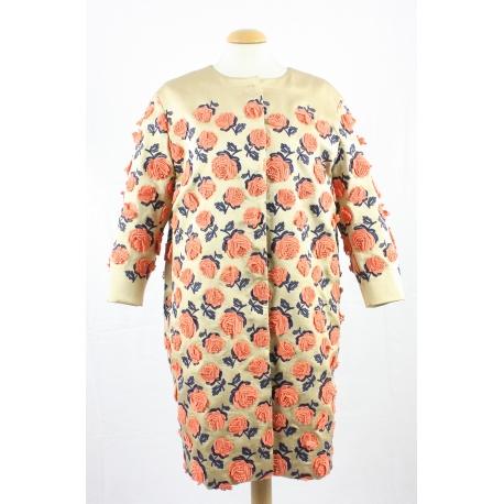 Prada special edition flower brocade coat
