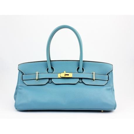HERMES Taurillon Clemence JPG Birkin 42 Blue Jean