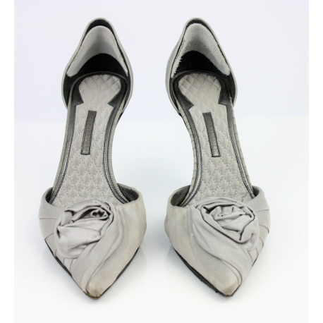 Armani shoes, Collection 2008 in grey silk