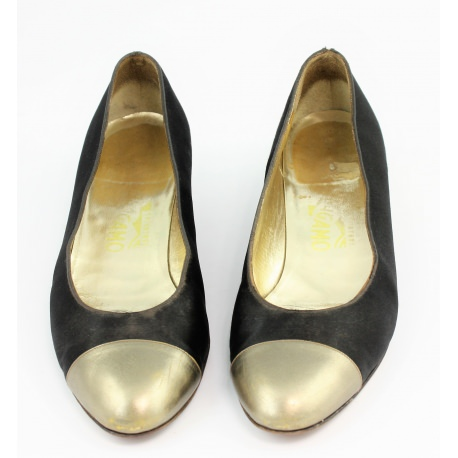 Ballet flats with small leather wedge Salvatore Ferragamo
