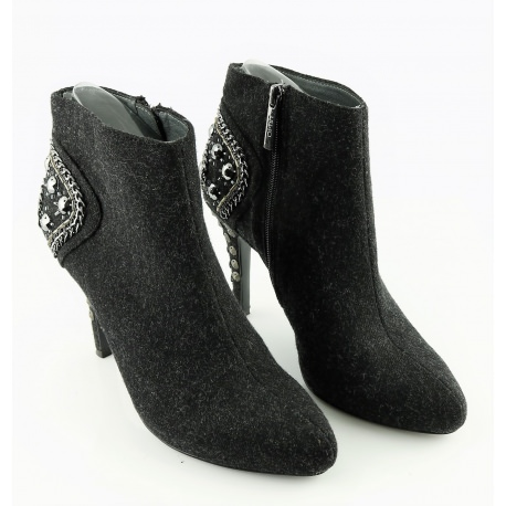 Women's Mid black booties Liu Jo