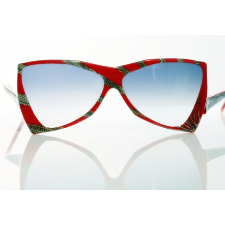 "Vintage Glasses.YSL ""Snake Red"" Collection."