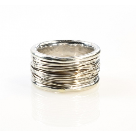 White gold wide ring
