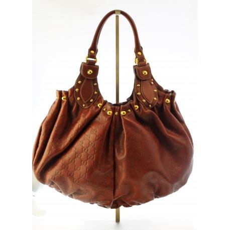 Gucci Pelham Shoulder Bag Studded Guccissima