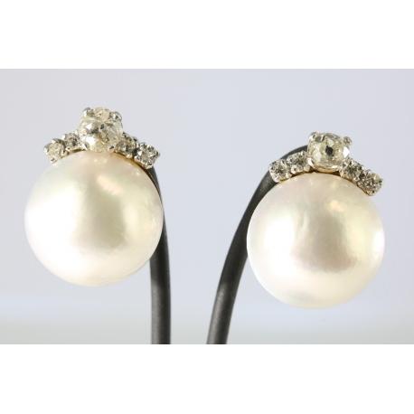 Diamonds and Pears Earrings