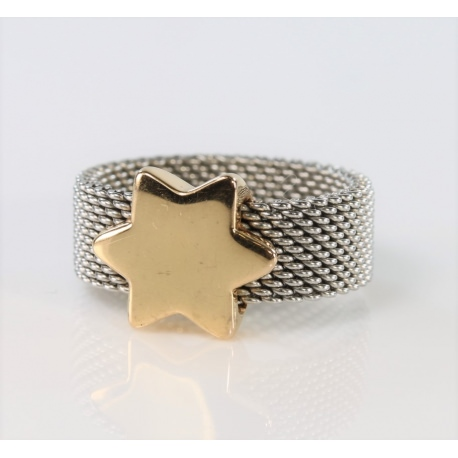Star ring of Tous steel gold.