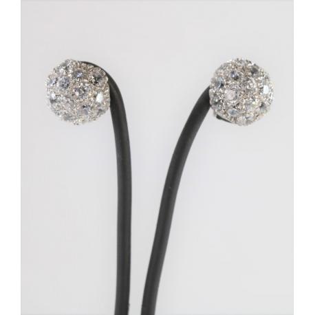 Half sphere earrings with zirconias