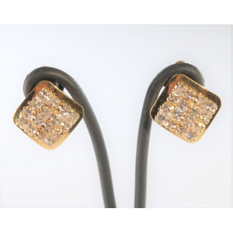 Gold Earrings with Zirconias