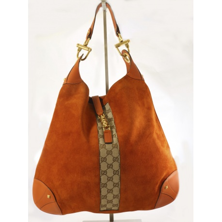 Gucci Orange Suede Jackie Bag