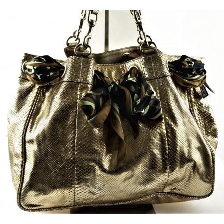 Fendi golden tone handbag