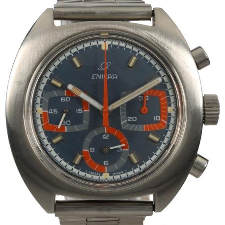 Enicar Chronograph 072-03-01 Valjoux 72