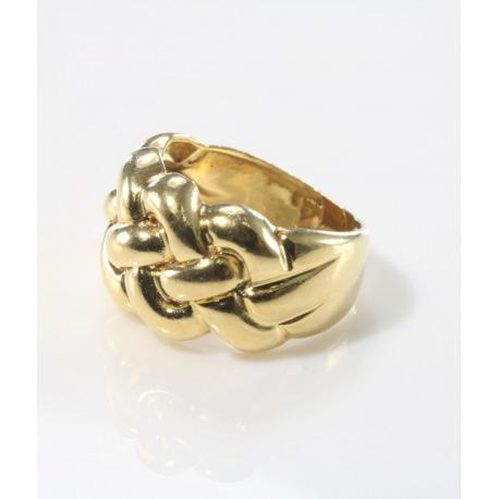 Sortija trenzada oro