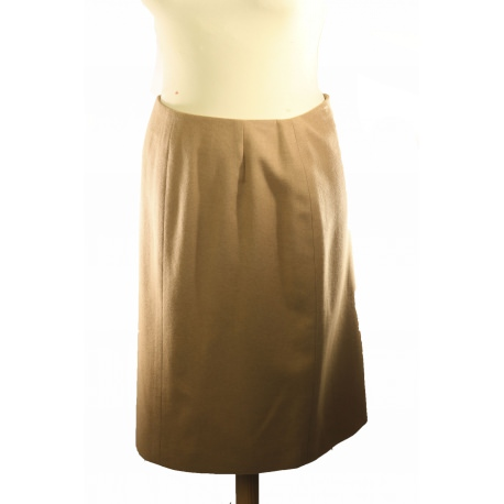 Hermes camel hair skirt