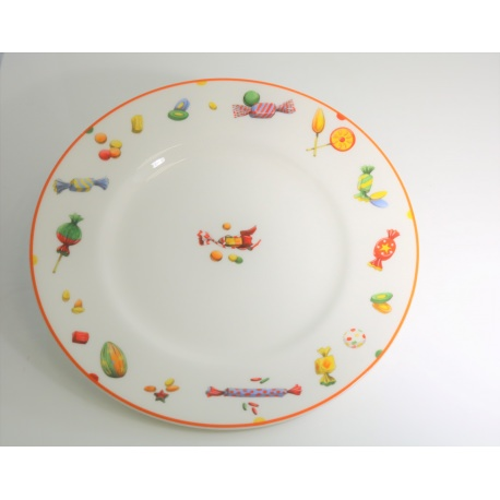 "Plato hermes ""Papillotes porcelana"
