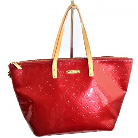 Classic LV Monogram Bellevue Vernis Red Handbag