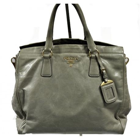Prada Vitello Shine Tote Handbag