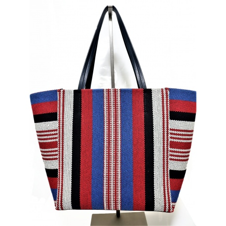 "Tote Celine Azul Marino Multicolor Medium ""Phantom"""