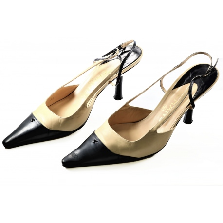 Zapatos salón abiertos Chanel