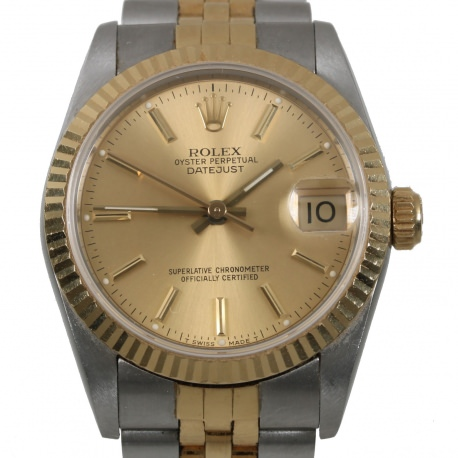 Rolex Datejust Steel and Gold Midsize 30mm ref 68273 from 1988