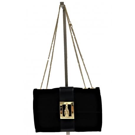 Gucci Handbag with Gold Lion Medallion