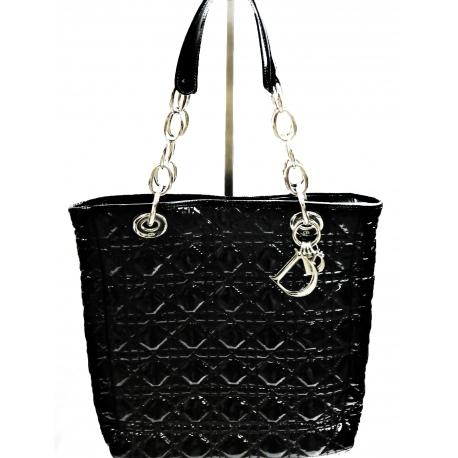 Lady Dior Tote Bag Cannage en Charol