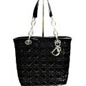 Lady Dior Tote Bag Cannage in Patent Leather