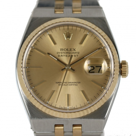 Rolex Oysterquartz Datejust ref. 17013 from 1987 Steel and Gold