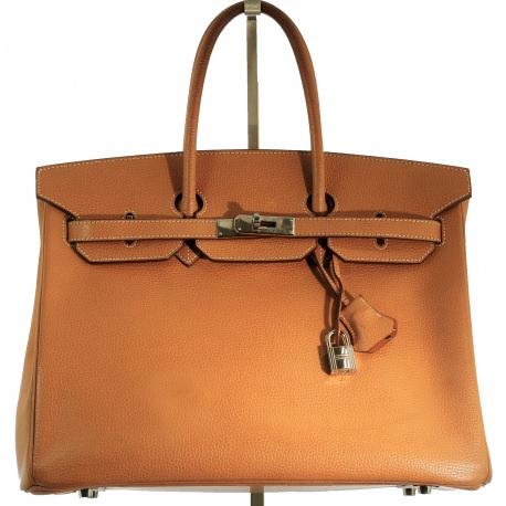 Bolso Hermes Birkin 33cm Camel/Paladium