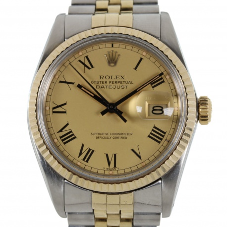 Rolex Datejust Buckley Dial ref.16013 Steel and Gold 1980´s