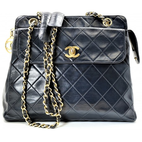 Chanel Vintage Lambskin Medium Padded Pocket Tote