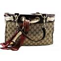 Gucci Monogram Tote with Scarf Handbag