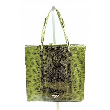 Prada Mini Shopping Snake Bag