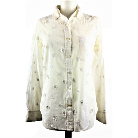 Chanel White Shirt Type Blouse