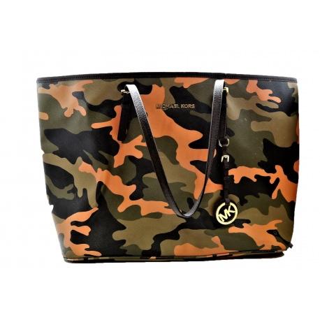 Michael Kors Camuflage Printed Tote Shopping Bag