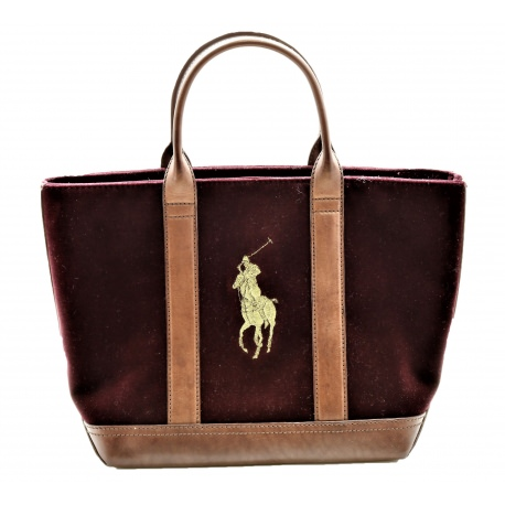 Ralph Lauren Handbag Tote Big Pony Polo