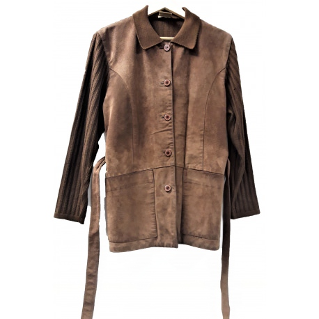 Docher. Suede and wool jacket