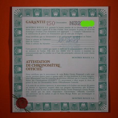 Rolex Explorer II Garantía Punched ref 16570 de 1991