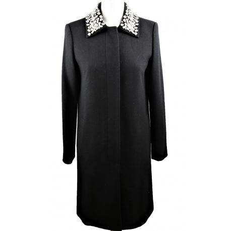 DKNY. Abrigo lana negro