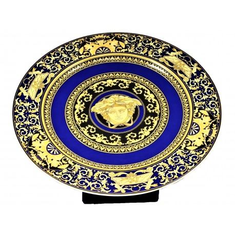 Versace. Plato de porcelana Rosenthal, Medusa Azul