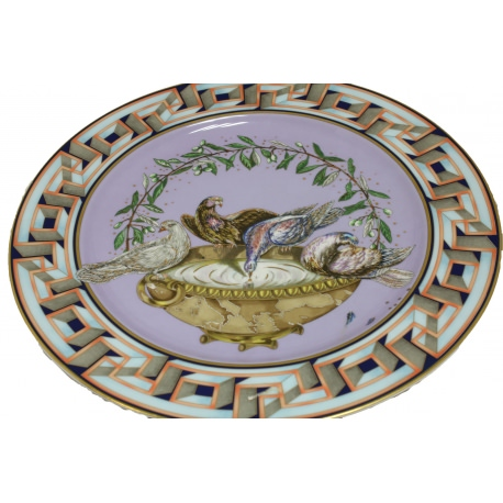 "Versace, Rosenthal porcelain plate ""A World of Peace"""