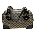 Gucci handbag satchel in monogram canvas