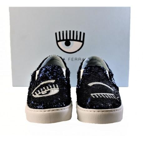 Chiara Ferragni. Zapatos con lentejuelas