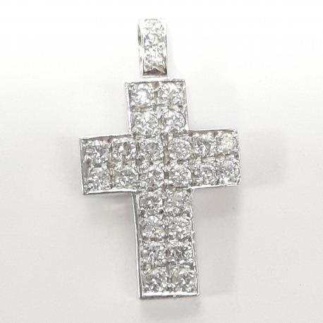 Colgante cruz con brillantes