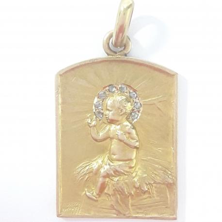 Medalla niño de las pajas corona Diamantes