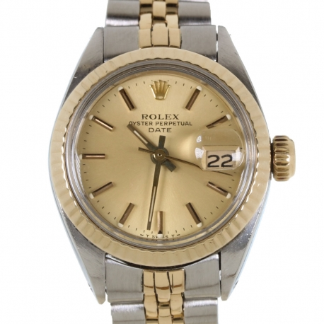 Rolex Date Acero y Oro Mujer 1983 ref.6917