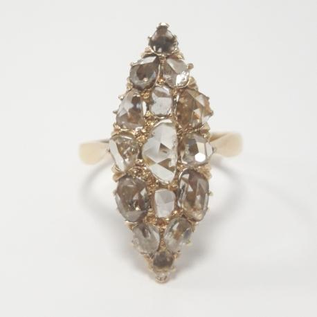 Sortija lanzadera con diamantes