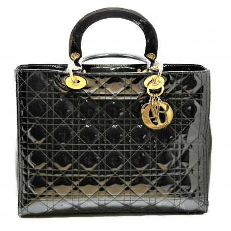 Bolso de My Lady Dior de piel de cocodrilo negro