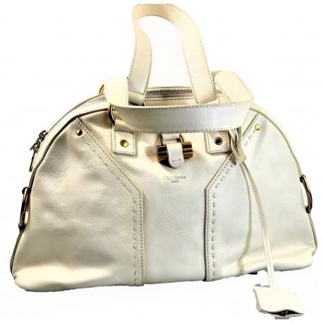 Vintage YSL white bag